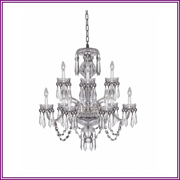 Waterford Lighting Cranmore 28 Inch 9 Light Chandelier Cranmore - 9500000511 - Crystal from 1800lighting.com