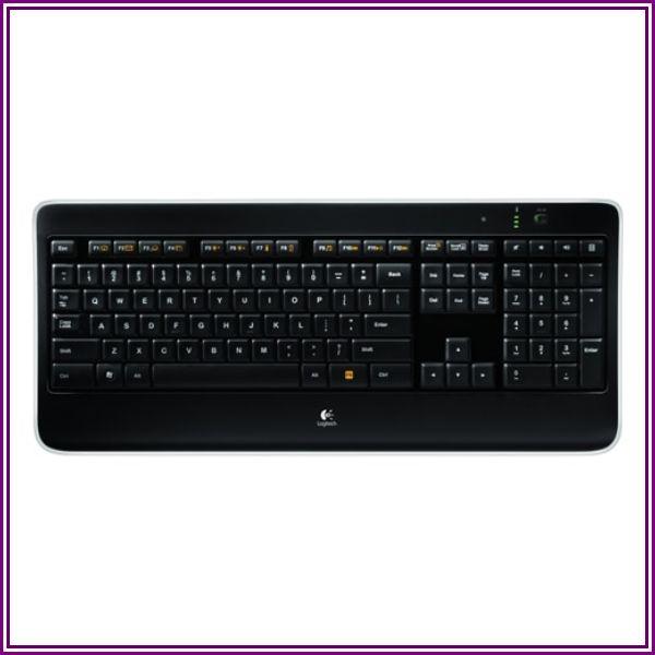 Logitech 920-002359 K800 Wireless Illuminated Keyboard - USB - Black from Tech For Less