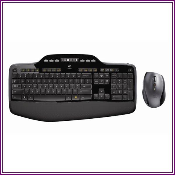 Logitech 920-002416 MK710 RF Wireless Ergonomic Desktop Set - 2.4 GHz - External - USB - Black from Tech For Less