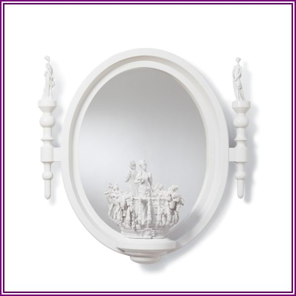 Lladro Small Oval Wall Mirror Small Oval - 01007082 - French Country from 1800lighting.com