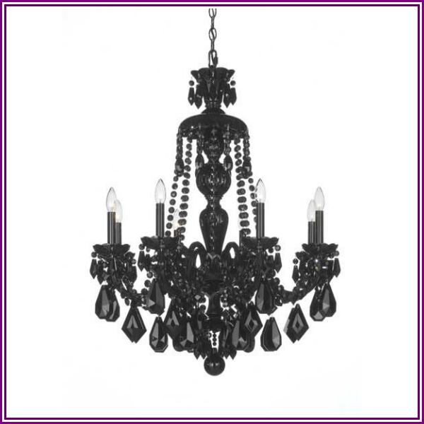 Schonbek Hamilton Black 28 Inch 8 Light Chandelier Hamilton Black - 5737BK - Crystal from 1800lighting.com