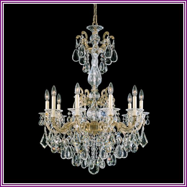 Schonbek La Scala 28 Inch 10 Light Chandelier La Scala - 5008-83A - Traditional from 1800lighting.com