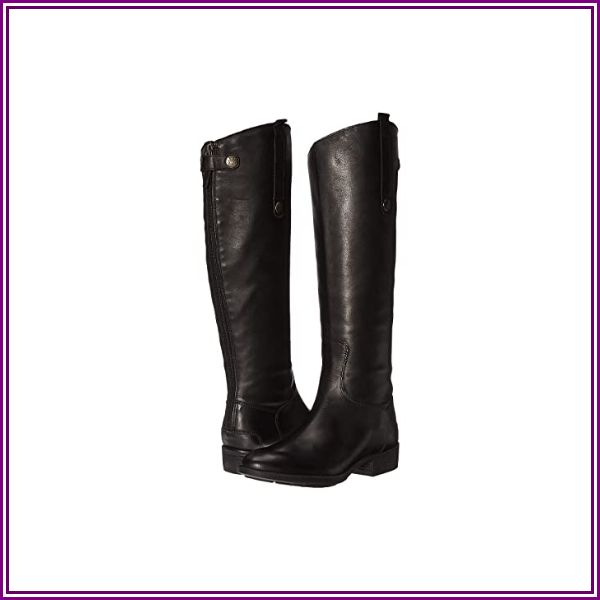 """Sam Edelman Penny Riding Boot Black Leather - Black 6.5 Medium"" from Zappos.com"