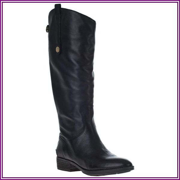 """Sam Edelman Penny Riding Boot Black Leather - Black 5 Medium"" from Zappos.com"