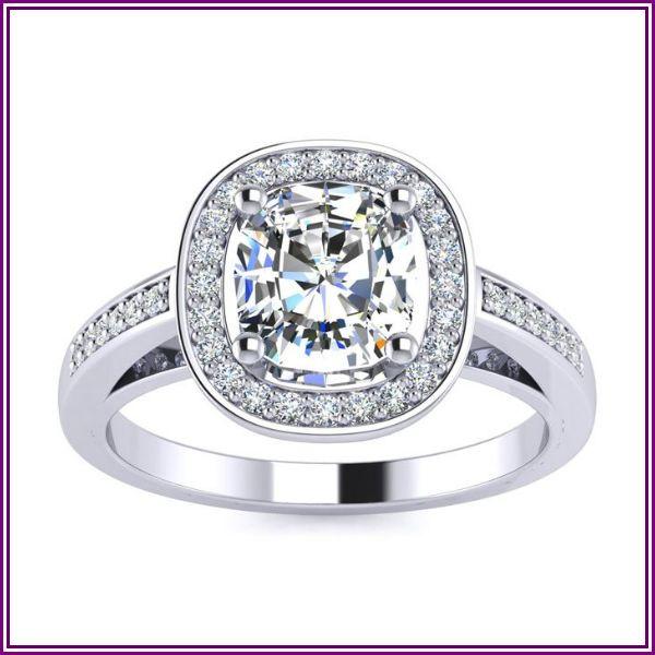 1 3/4 Carat Cushion Cut Halo Diamond Engagement Ring in 14K White Gold (4.2 g) (I-J, I1-I2 Clarity Enhanced) by SuperJeweler from SuperJeweler