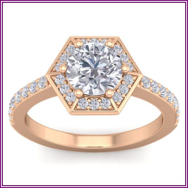 2.5 Carat Halo Diamond Engagement Ring in 14K Rose Gold (3.90 g) (H-I, SI2-I1), Size 4 by SuperJeweler from SuperJeweler