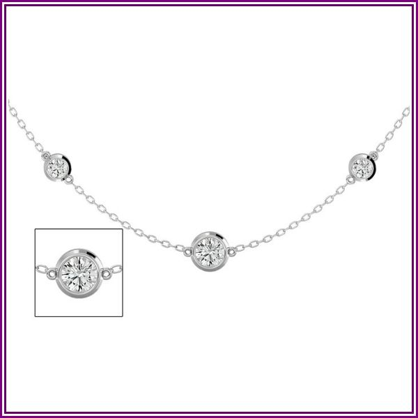 14K White Gold (7.80 g) 2 3/4 Carat Graduated Diamonds By The Yard Necklace, 16-18 Inches (H-I, SI2-I1) by SuperJeweler from SuperJeweler