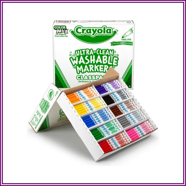 Crayola® Ultra-Clean Washable® Fine Tip Marker Classpack® - 200 pieces from Crayola