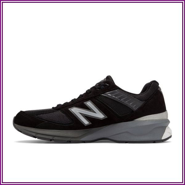 New Balance Black and Silver US Made 990 v5 Sneakers from Holabird Sports