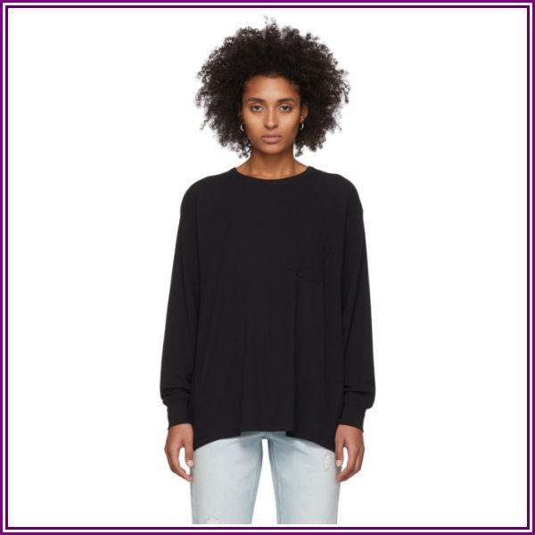 alexanderwang.t Black Tilted Pocket Long Sleeve T-Shirt from SSENSE