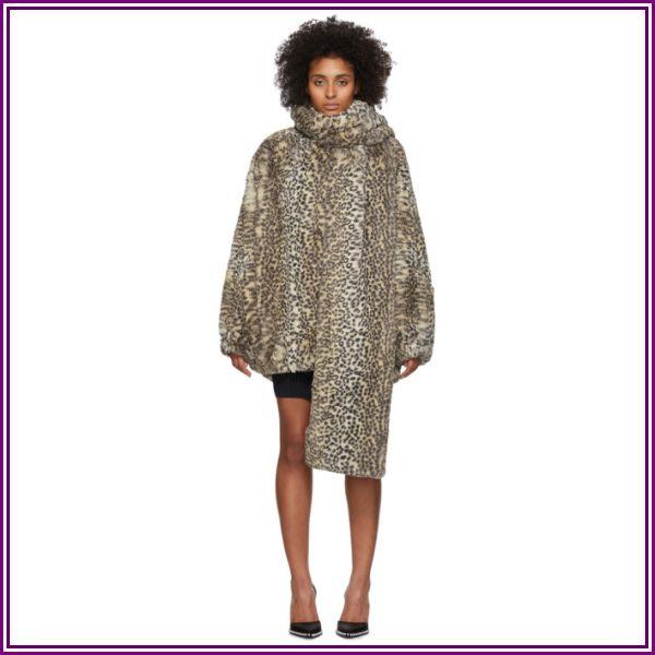 alexanderwang.t Beige Oversized Cheetah Coat from SSENSE