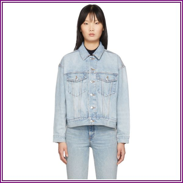 Alexander Wang Blue Denim Game Jacket from SSENSE