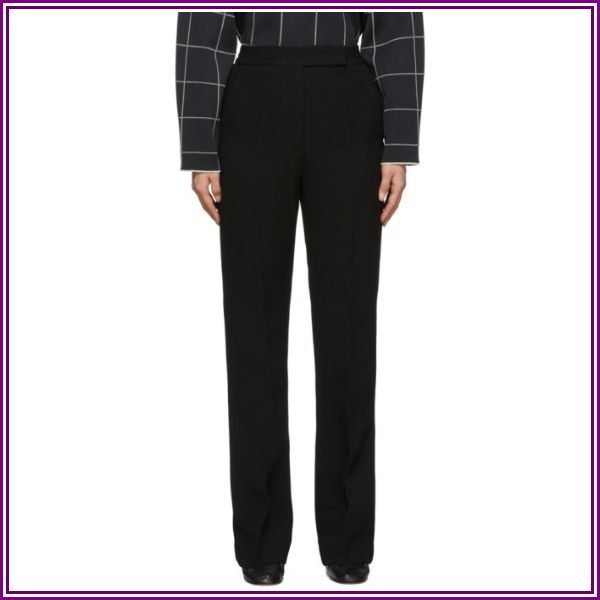 3.1 Phillip Lim Black Topstitch Cady Trousers from SSENSE