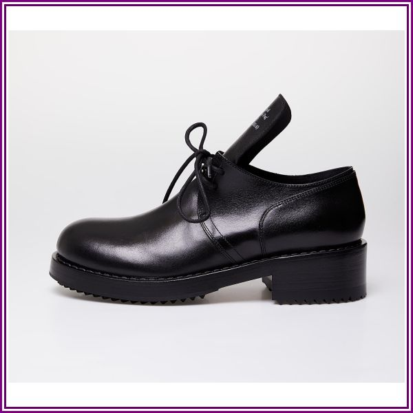 Raf Simons Laced Up Shoe Men Black Cow Leather from Footshop.eu