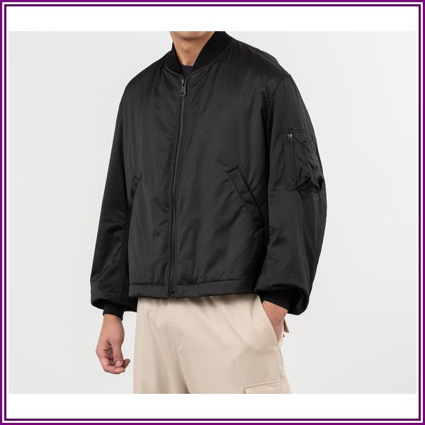 Y-3 Craft Bomber Jacket Black from Maison Threads