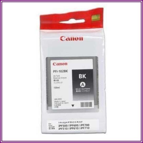 Canon PFI-102B černá (black) originální cartridge from Staples UK