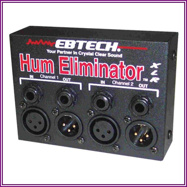 Ebtech HEXLR 2 Ch Hum Eliminator W/XLR from Muziker.com
