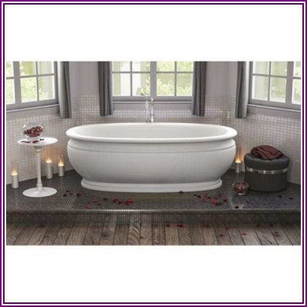 Aquatica Olympian by Savio Roman Freestanding Solid Surface Bathtub - Matte White from Modern Bathroom