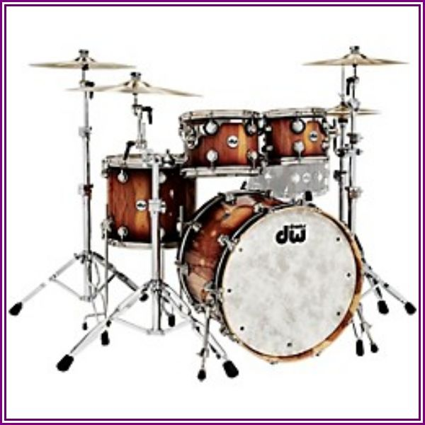 Dw Collector's Series Pure Almond 4-Piece Shell Pack With Nickel Hardware, Toasted Almond Burst from Guitar Center