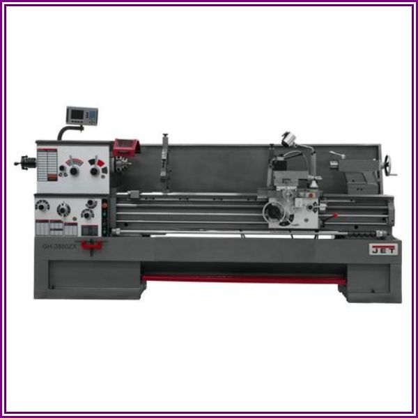 Jet Gear Head 22 x 80 ZX Lathe with 2-Axis Acu-Rite 203 DRO and Collet Closer from International Tool