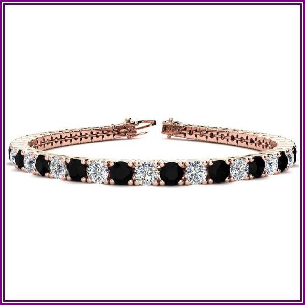 11 3/4 Carat Black & White Diamond Men's Tennis Bracelet in 14K Rose Gold (15.4 g), 9 Inches, I/J by SuperJeweler from SuperJeweler
