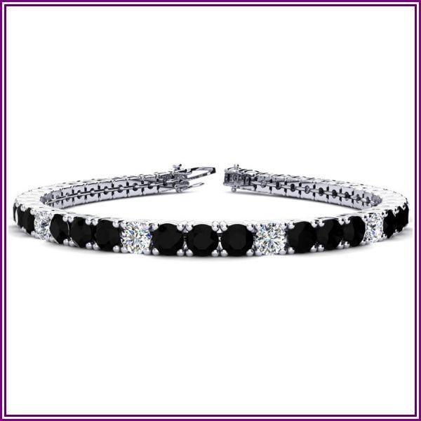 10 1/2 Carat Black & White Diamond Alternating Men's Tennis Bracelet in 14K White Gold (13.7 g), 8 Inches,  by SuperJeweler from SuperJeweler