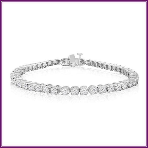 6 1/4 Carat Diamond Men's Tennis Bracelet in 14K White Gold (17.1 g), 9 Inches, I/J by SuperJeweler from SuperJeweler