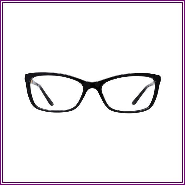 Versace VE3186 GB1 (54) Eyeglasses and Frame in Black | Acetate/Metal from Coastal.com