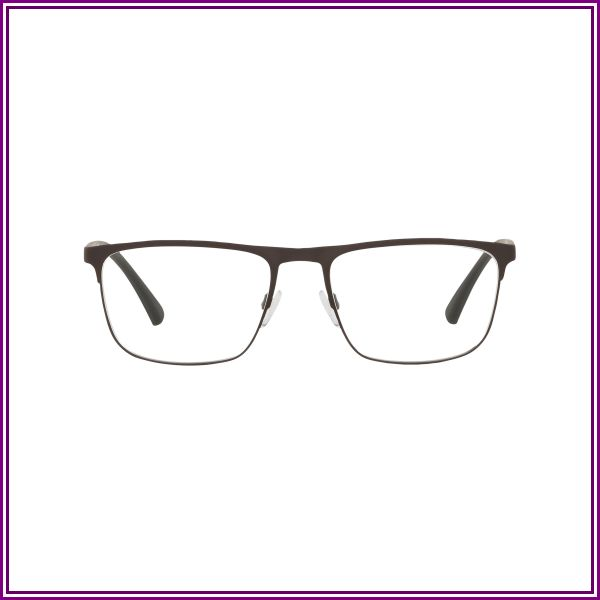 Emporio Armani EA1079 3242 (55) Eyeglasses and Frame in Mud Rubber Brown | Plastic/Metal from Clearly AU and NZ