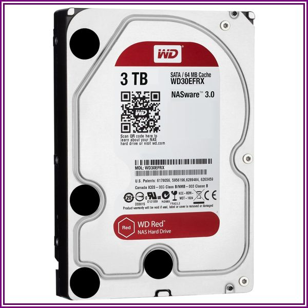 WD 3 TB SATA 6 GB/s Red NAS Hard Drive (WD30EFRX) from Tiger Direct
