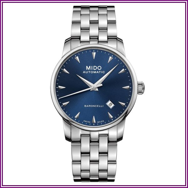 Mido Baroncelli Stainless Steel Bracelet - M86004151 (Blue) Watches from uhrcenter - DE