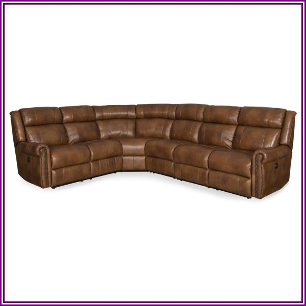 Hooker Furniture Esme 4 Piece Power Sectional, 195 in. W x 40 in. D in Brown from Carolina Rustica