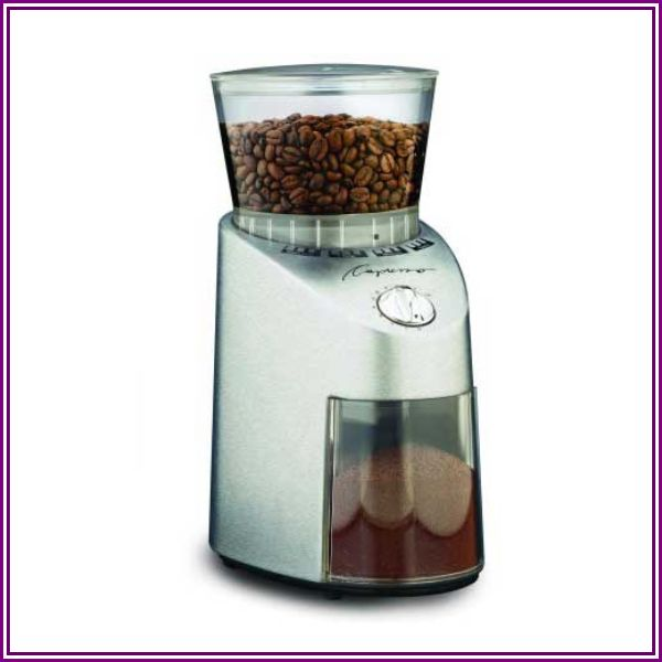 Capresso Infinity Conical Burr Grinder - Stainless from Focus Camera & Lifestyle By Focus