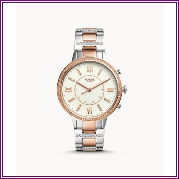 Hybrid Smartwatch Virginia Two-Tone Stainless Steel Jewelry from Fossil
