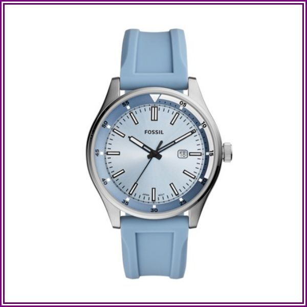 Fossil Belmar Three-Hand Date Pale Blue Silicone Watch jewelry - FS5537 from Fossil
