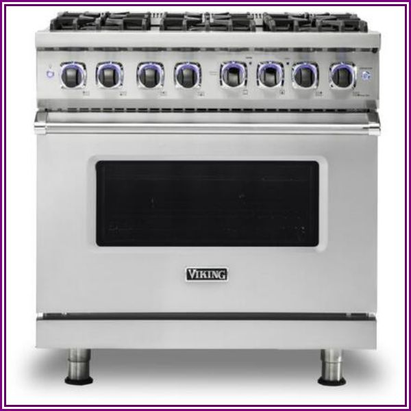 "Viking Professional 7 Series 36"" 6 Burner Natural Gas Dual Fuel Range - Stainless Steel - VDR7366BSS from AppliancesConnection.com"