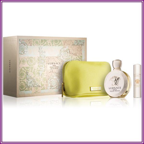 Versace Eros for Women, Gift Set (3.4 oz EDP spray + 0.3 oz Mini EDP Spray In Versace Yellow Pouch) from Parfemy-Elnino.sk
