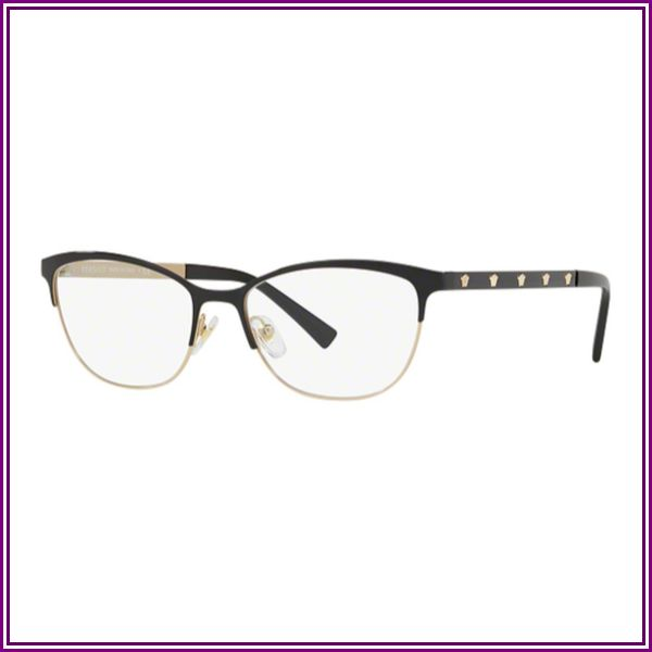 VE 1251 Eyeglasses Black/Pale Gold from VISUAL CLICK
