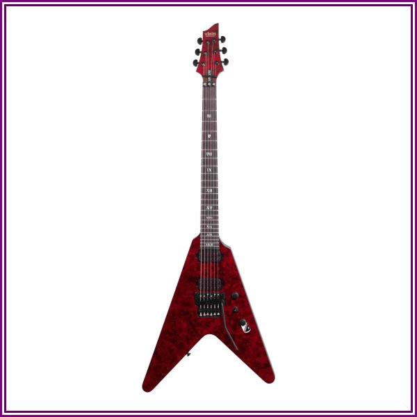 Schecter V1FR Apocalypse Electric Guitar Red Reign from Music & Arts