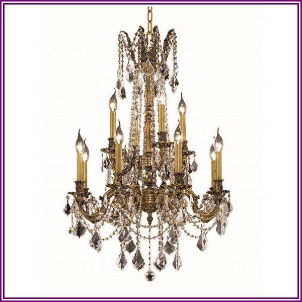 Elegant Lighting Rosalia 24 12 Light Elements Crystal Chandelier from HomeSquare