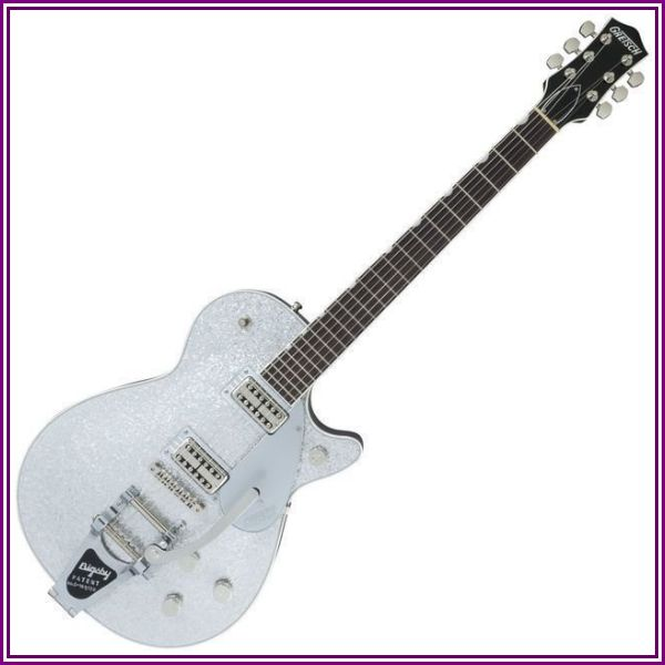 Gretsch G6129 Players Ed Jet FT Silver Sparkle W/C from Music & Arts