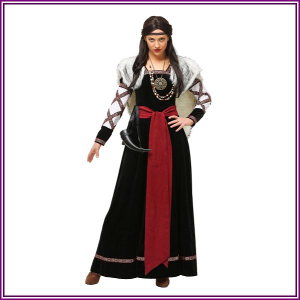 Plus Size Dark Viking Dress Women's Costume | Exclusive from Fun.com