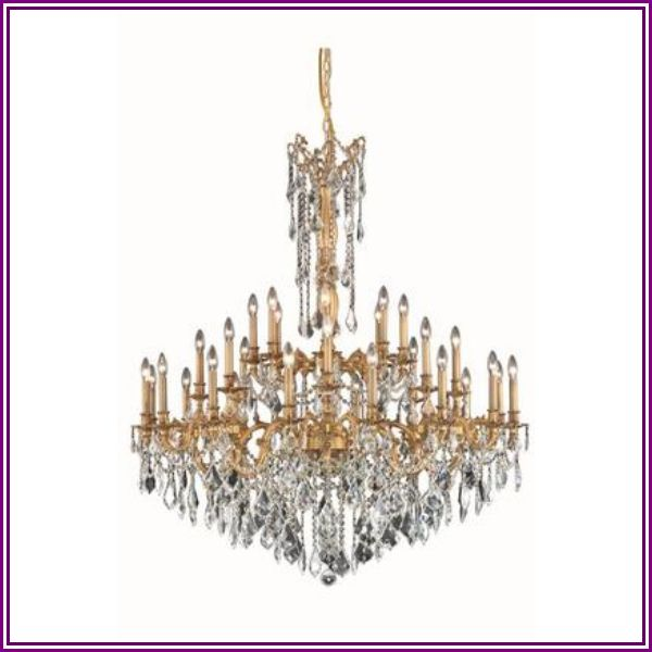 9232G48FG/SA 9232 Rosalia Collection Large Hanging Fixture D48in H54in Lt: 32 French Gold Finish (Swarovski Spectra from AppliancesConnection.com