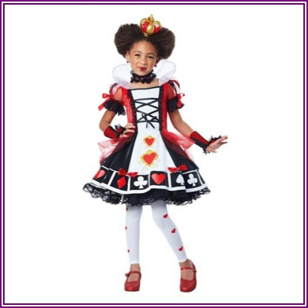 Deluxe Queen of Hearts Costume for Girls from Fun.com