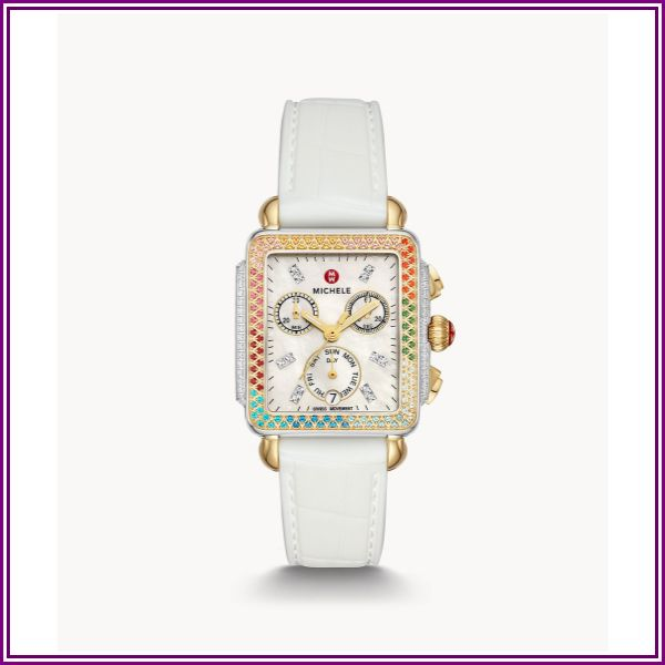 MICHELE Deco Carousel Two-Tone Diamond Watch Jewelry- MWW06P000297 from AuthenticWatches