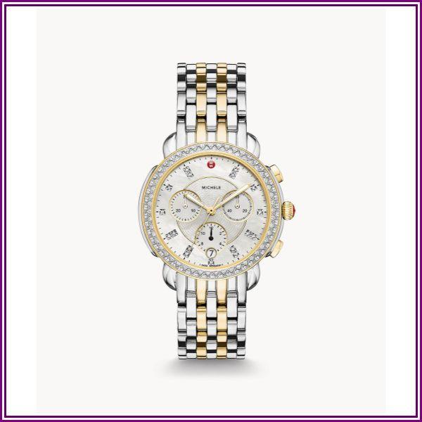 Michele Sidney Women's Diamond Bezel Watch MWW30A000005 from AuthenticWatches