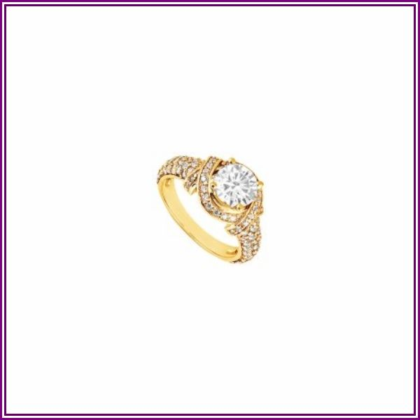 Diamond Engagement Ring 14K Yellow Gold, 1.25 CT - Size 5.5 from UnbeatableSale.com